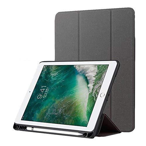 Nuevo iPad 9.7 2018/2017 Funda con Portalápices, Suave TPU Anti Choque Trifold Stand Protector Smart Cover [Auto Sueño /...
