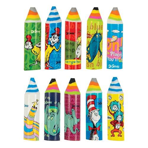 Raymond Geddes Dr. Seuss Crayon Eraser 24/Bag Eraser (70486)]()