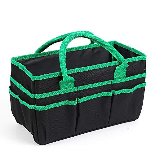 0385b6658cf7cb Jjring Fundamental Organizer 600D Nylon Artist Tote Bag, Green Edge -