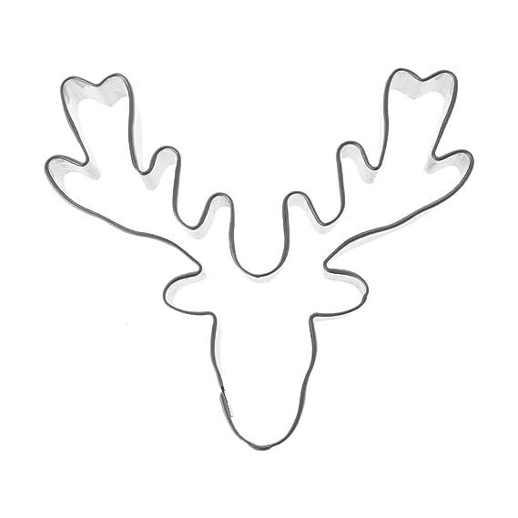 FlYHIGH Molde del Reno de la Cabeza de los Ciervos de la Navidad del Molde de la Galleta del Cortador de la Galleta del Acero Inoxidable: Amazon.es: Hogar