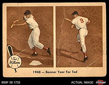 Amazoncom 1959 Fleer 36 Banner Year Ted Williams Boston