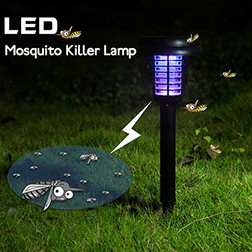 yunli HOT SALE Led Solar Power Lawn Fence Lamp UV Mosquito Bug Zapper Killer Garden Yard Light (Solar Lamp China)