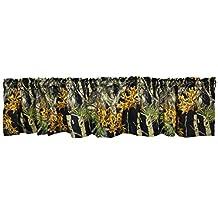 The Woods Camo Curtain Valance Black