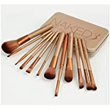New Urban Decay 12pc Professional Nake 3 MakeUp Brush Set In Gold Metal Tin Case by Naked