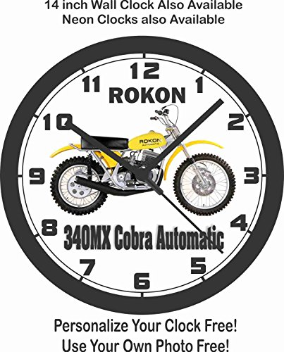 1975 ROKON 340MX COBRA AUTOMATIC MOTORCYCLE WALL CLOCK-FREE for sale  Delivered anywhere in USA