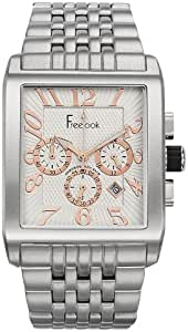 Free Look watch for Men - Analog Stainless Steel Band - Silver, HA8186CH-9
