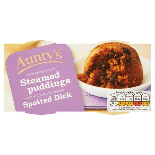 Auntys Spotted Dick Pudding - 95g - 2 count