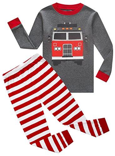 IF Pajamas Boys Sleepwear Pajama Set,  5 - Grey/Fire/Truck