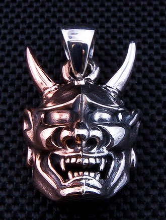 - Oni Mask Tattoo 925 Sterling Silver Pendant