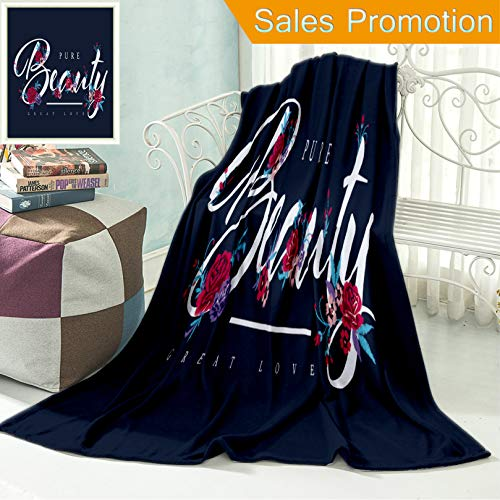 "Ailieo Unique Custom Flannel Blankets Embroidery for Fashion with Slogan Hand Drawing T Shirt Printing Super Soft Blanketry for Bed Couch, Throw Blanket 40"" x 60"" ()"