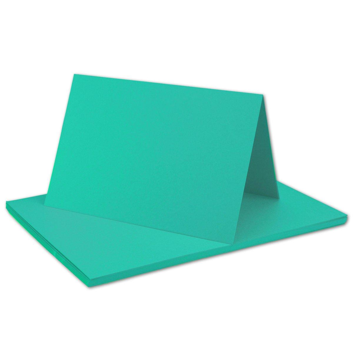 250x Falt-Karten DIN A6 Blanko Doppel-Karten in Hochweiß Kristallweiß -10,5 x 14,8 cm   Premium Qualität   FarbenFroh® B079VKYXQW | Abgabepreis