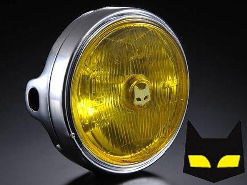 ( マーシャル ) ヘッドライト カワサキ用 889 ドライビングランプフルキット イエローレンズ メッキケース B008V2MO0I