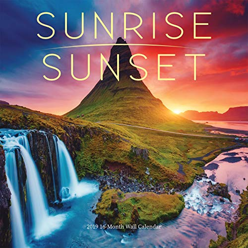 2019 Avalon Wall Calendar, Sunrise/Sunset, 12 x 12 inches (82379)