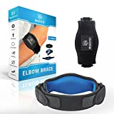 Tennis elbow brace with Compression Pad (2 Pack) for Men & Women - Prevents Elbow Tendonitis - Great Support For Injured Arms & Pain Relief - Best Tennis & Golfer Elbow Brace - Free E-book