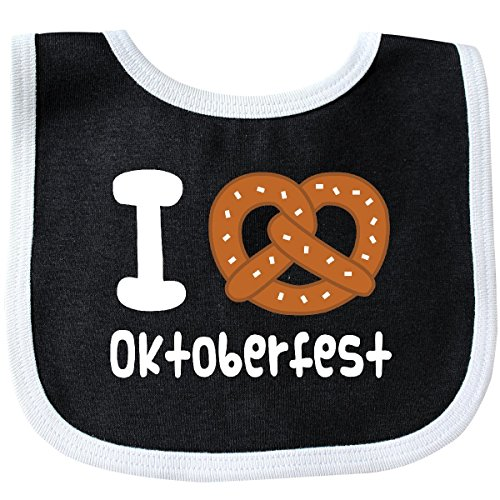 Inktastic - Oktoberfest Pretzel Fun Holiday Baby Bib Black/White 2c7db