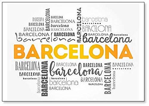 Imán para nevera con diseño de nube de Barcelona: Amazon.es: Hogar