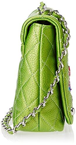 Tua by Braccialini Patch, Borsa a Spalla Donna, Verde, 8 x 17 x 20.5 cm (W x H x L)