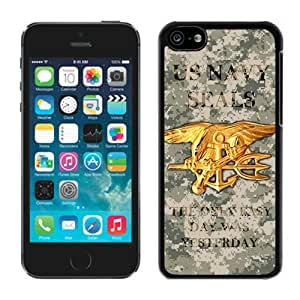 iPhone 5C TPU Case,United States Navy Seals Rubber Case for iPhone 5C Black Cover
