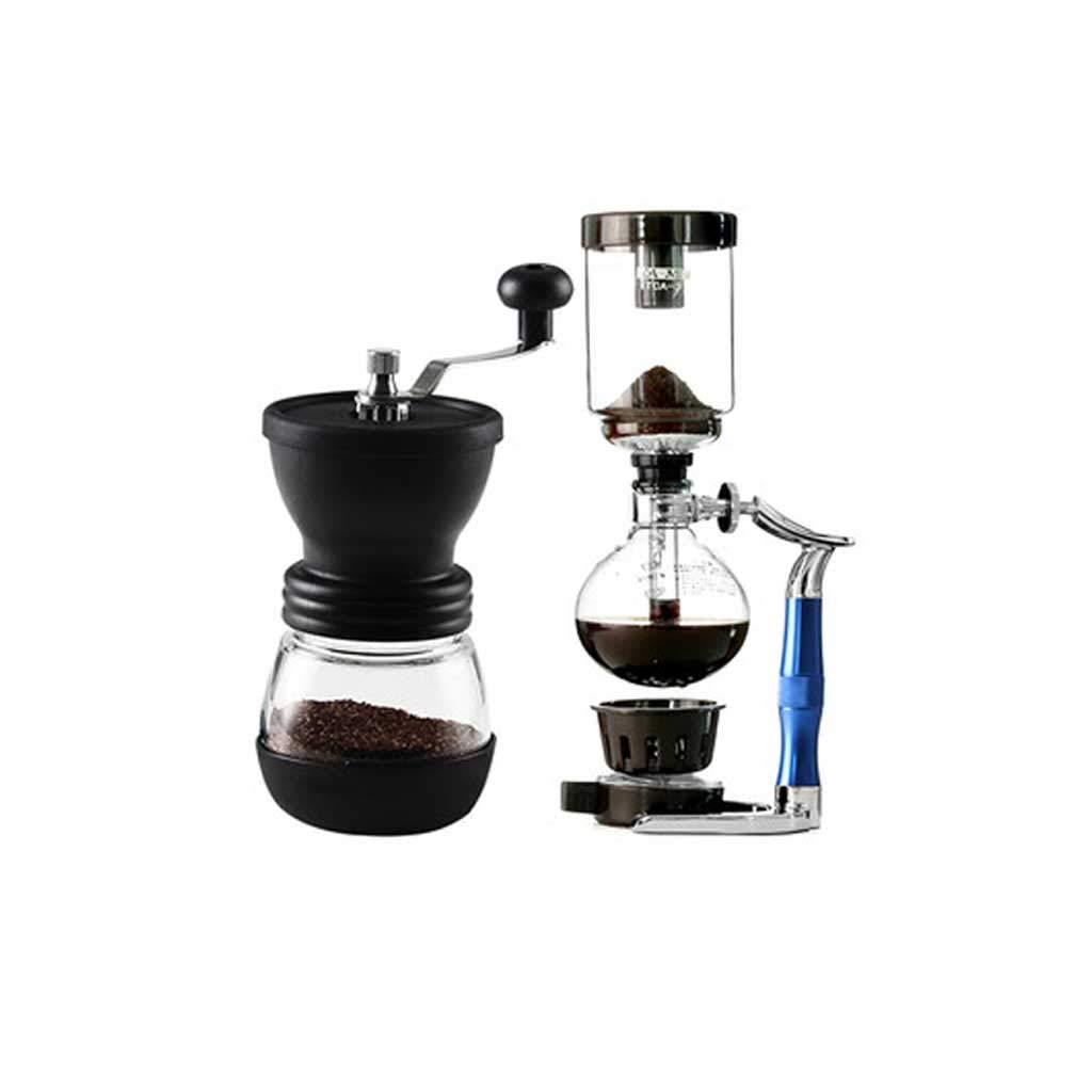 調整可能なセラミックコアハンドミルミニコーヒー豆グラインダーサイフォンポット   B07HCCSVBJ