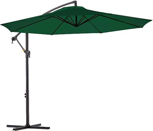 Le Conte Offset Umbrella 10ft Cantilever Patio Hanging Umbrella Outdoor Market Umbrellas