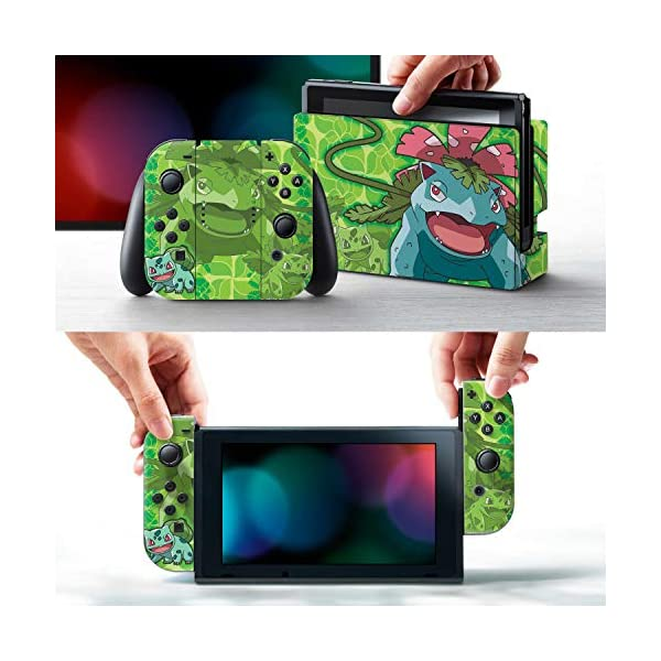 Controller Gear Nintendo Switch Skin & Screen Protector Set - Pokemon - Bulbasaur Evolutions Set 1 - Nintendo Switch 2