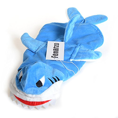 Fenarzo Blue Shark Costume for Small Dogs (M, (Shark Suit For Dogs)