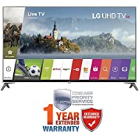 LG UJ7700 Series Super UHD 4K HDR Smart LED TV 2017 Model with Additional 1 Year Extended Warranty