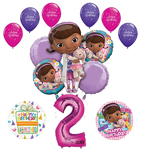 Doc McStuffins 2nd Birthday Party Supplies and Balloon Bouquet Decorations ()