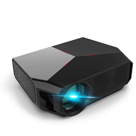 FSMJY Proyector, Oficina en Casa Portátil 1080P HD Teléfono Móvil ...
