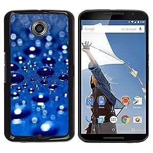 Be Good Phone Accessory // Dura Cáscara cubierta Protectora Caso Carcasa Funda de Protección para Motorola NEXUS 6 / X / Moto X Pro // Blue Water Drop 3