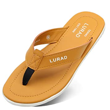 C&S Chanclas Amarillas de los Hombres de Moda Zapatillas Frescas de Verano de Estilo Europeo y