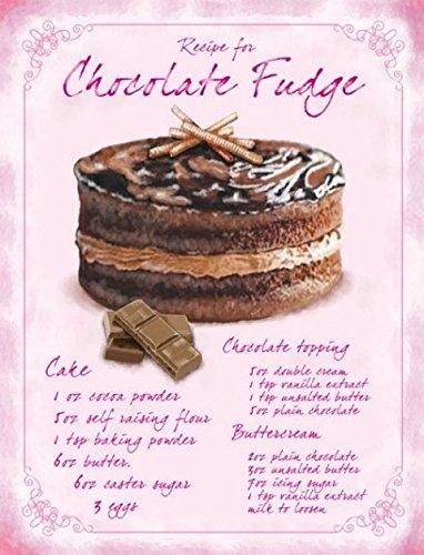 Recipe Chocolate fudge Kuchen Cartel de Chapa Placa metal ...