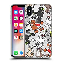 Head Case Designs Miniature Poodle Dog Breed Patterns 2 Soft Gel Case for Apple iPhone 4 / 4S