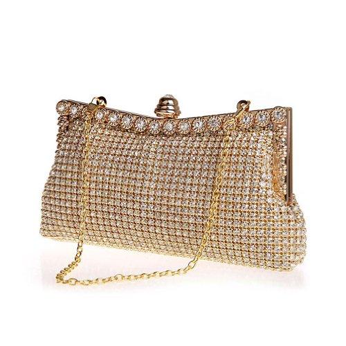 KAXIDY Donna Cristallo Diamante Scintillante Sera Pochette Frizione Borse Sacchetto Sera