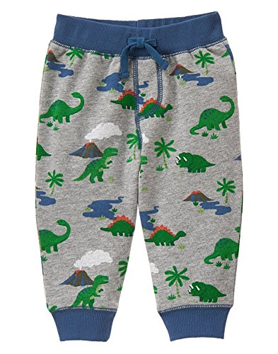 Gymboree Toddler Boys' Dino Print Pant, Multi, 12-18 Months