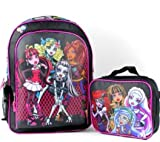 "Best Monster High High School Back Packs - Monster High 16"" Large School Backpack with Lunch Review"