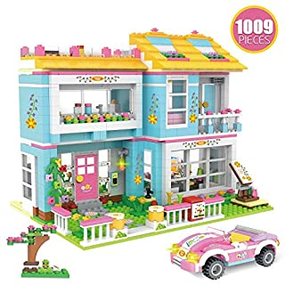 WishaLife Kith Happy Family Party Creative Building Toy Set for Kids, Best Learning and Roleplay Gift for Girls and Boys with Storage Box (1009 Pieces)