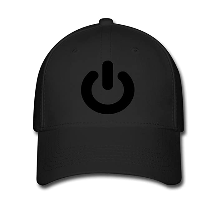 Amazon.com  Kaho Popular Unisex Baseball Cap Adjustable Hat Power Button  Logo  Clothing c00fd4026ea