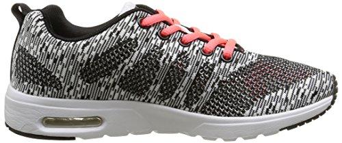 KangaroosKangacore Knit T - zapatillas deportivas Unisex adulto Negro - Noir (Black Multi/Orange 597)