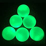 Glow Golf Balls - Luminous Night Golf Balls Rechargeable By Sunlight And Flashlight, Reusable And Glow In The Dark