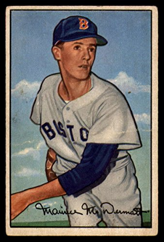 1952 Bowman #25 Mickey McDermott Red Sox TRIMMED - Missing Border MLB Baseball Card P Poor ()