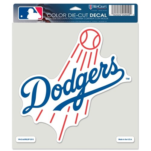 (WinCraft MLB Los Angeles Dodgers 16746013 Perfect Cut Color Decal, 8
