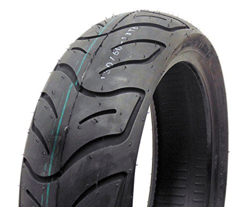 SET OF TWO: Tire 130/60-13 Tubeless Front/Rear Motorcycle Scooter Moped by MMG (Image #2)