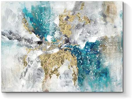 Abstract Wall Art Canvas Artwork: Hand Painted Pictures Minimalist Painting
