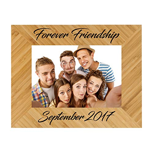 (Sofia's Findings Personalized - Custom Engraved Wooden Picture Frame | Personalized Bamboo Picture Frame (8x10))