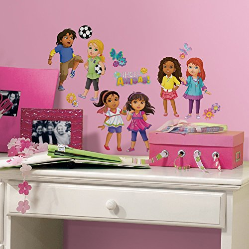 RoomMates Dora and Friends Peel and Stick Wall Decals, ,