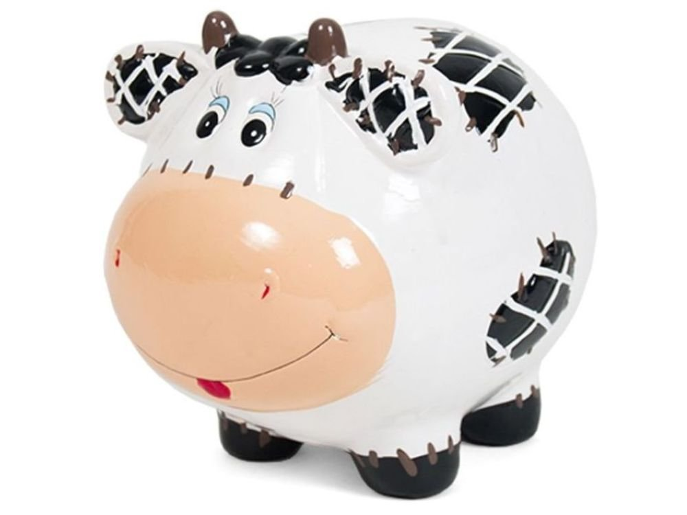 Hucha Vaca Parche Ceramica