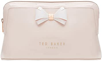 164cf53f43b4 Image Unavailable. Image not available for. Color  Ted Baker London Abbie  Curved Bow Cosmetic Travel Wash Bag (Mid Pink)