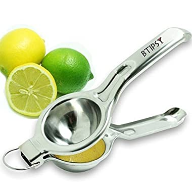 BTipsy Jumbo Citrus Hand Juicer - Jumbo Lemon and Lime Squeezer with Commercial Grade - Premium Quality (Grade 304)
