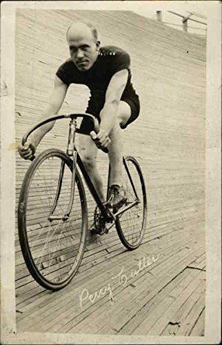 Percy Cutler, Bicycle Racer Bicycles Original Vintage Postcard